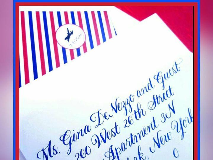 Tmx 1477156077344 Bickham In Navy Fisherville wedding invitation