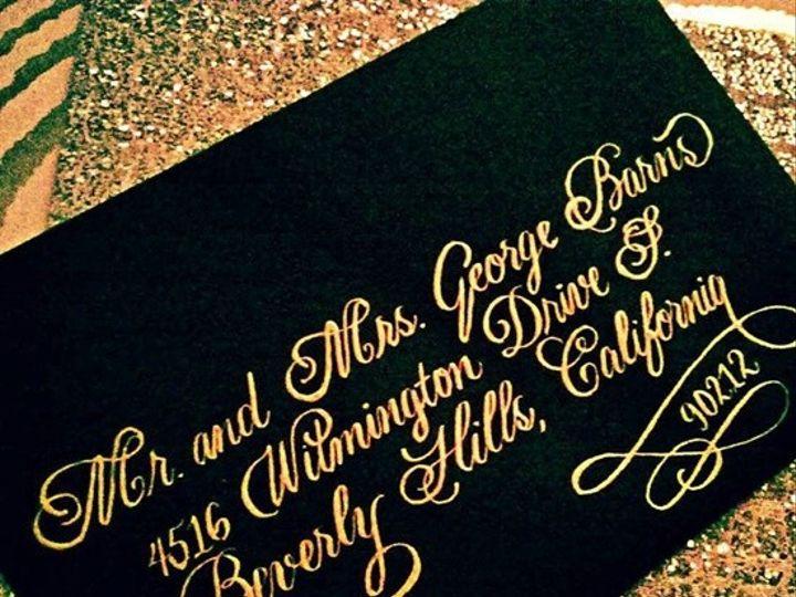 Tmx 1499183407188 Flourished Bickhim In Gold Ink Fisherville wedding invitation