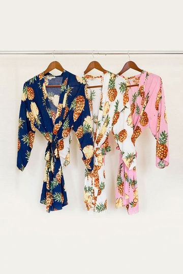 Rayon Pineapple Robes