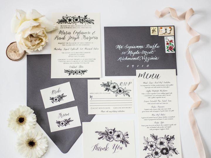 Tmx 1482009686838 Stephanie Tara Stationary Pics 0001 Nanuet, NY wedding invitation