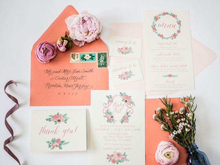 Tmx 1482009705602 Stephanie Tara Stationary Pics 0011 Nanuet, NY wedding invitation