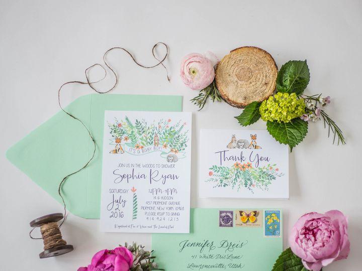 Tmx 1482009723183 Stephanie Tara Stationary Pics 0023 Nanuet, NY wedding invitation