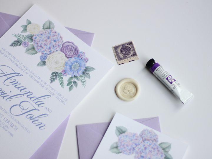 Tmx 1482009829874 Purplerose1 Nanuet, NY wedding invitation