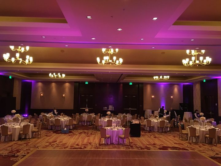 Reception setup and lighting