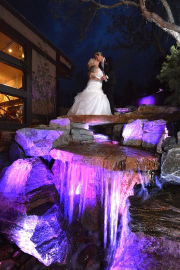 Waterfall uplighting