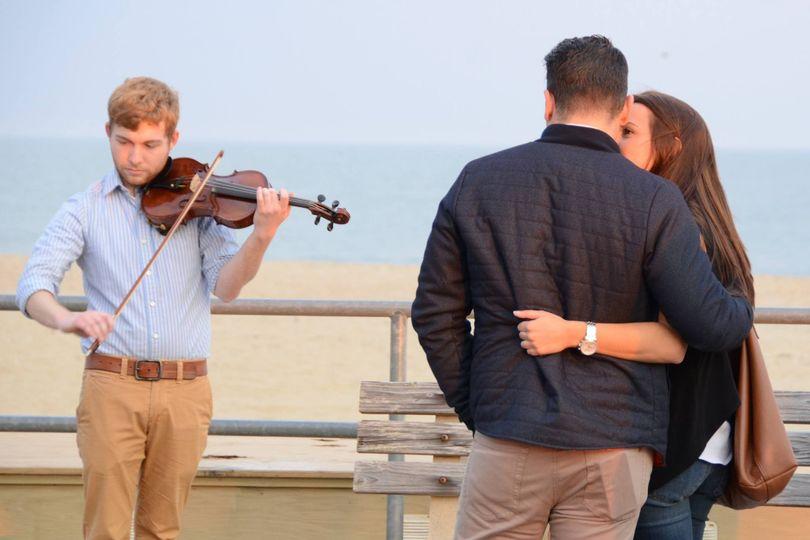 Beach-side engagement