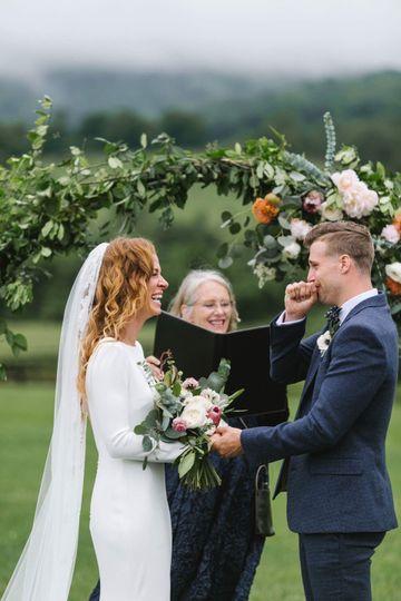 Garden wedding | Emily Chidester Photography