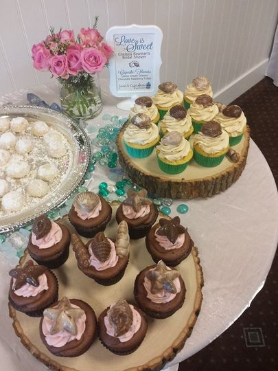 Bridal Shower by the sea with edible sea shells
