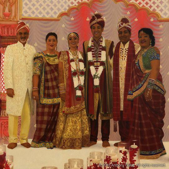 Indian wedding family detail