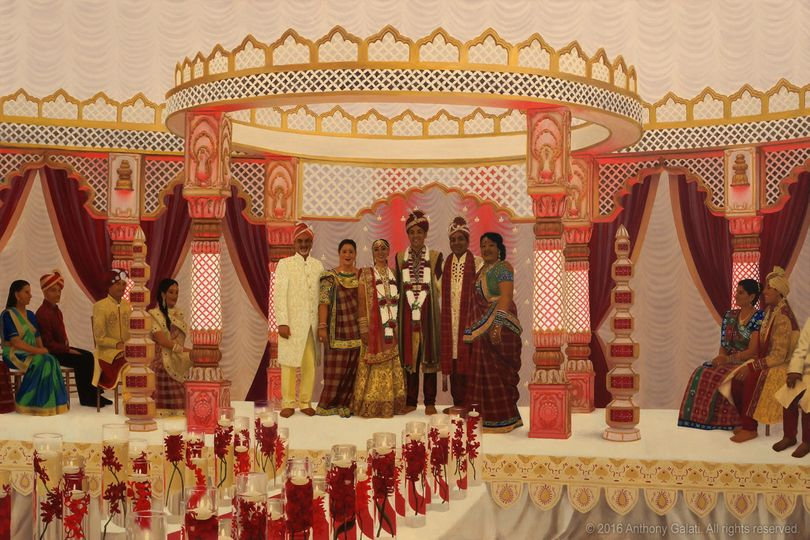 A gorgeous traditional Indian wedding ceremony
