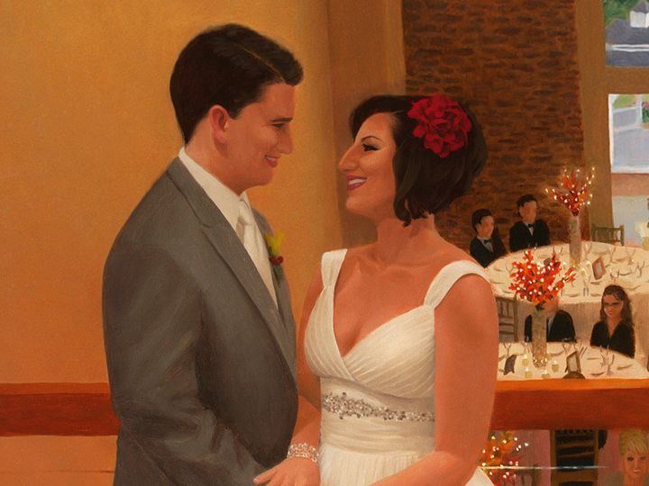 Tmx 1423948491611 Live Event Painting Of Kim  Justin Detail Morristown, NJ wedding favor