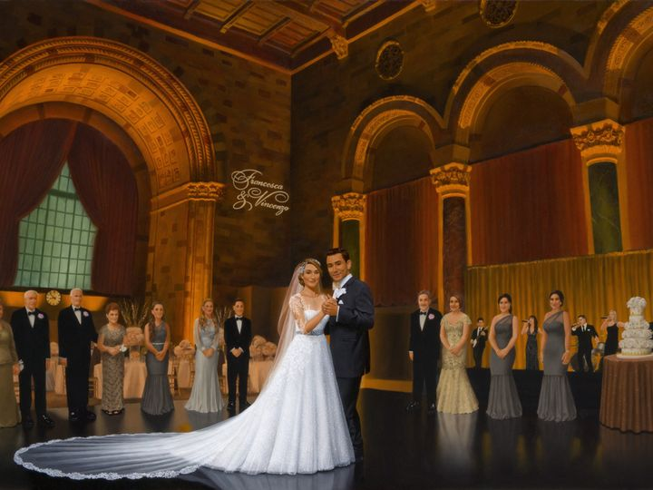 Tmx 1475568436485 Painting Of Reception Celebration At Cipriani Morristown, NJ wedding favor