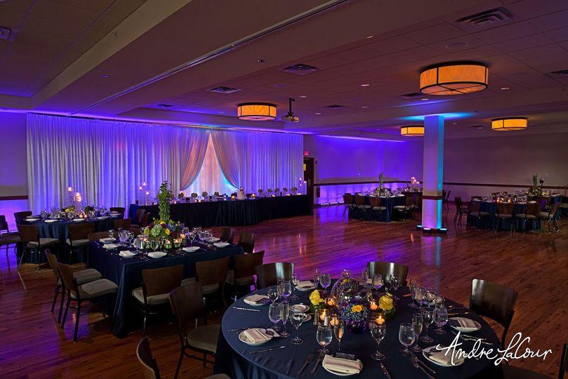 Elegant wedding setup