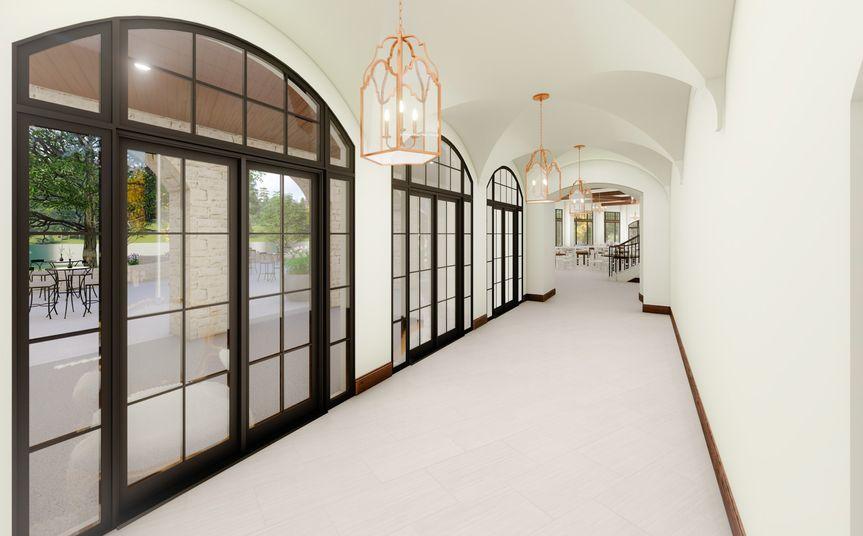 Classicly elegant foyer area