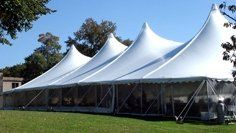 Century Tents add beauty with their elegant lines and soaring high peaks.  Available in 40', 50',...