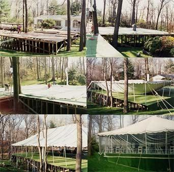 We can do parties on almost any surface, leveled or not!