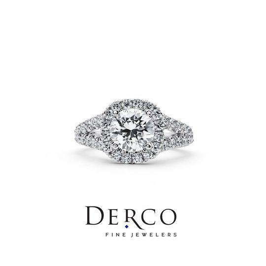 Split Shank halo ring by Derco!