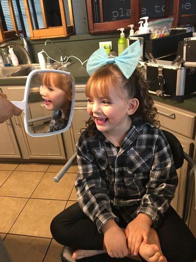 Little girl's Recital makeup