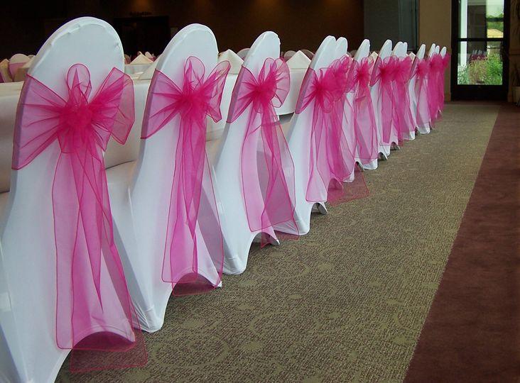 Pink Organza Bows