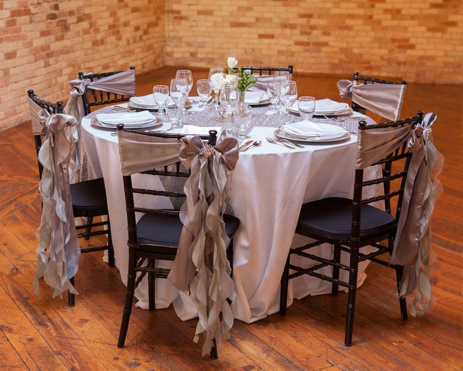 Table setting and silver decor