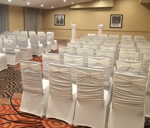 Ruched Back Chair Covers