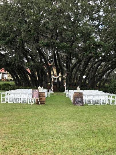 Sample ceremony setup