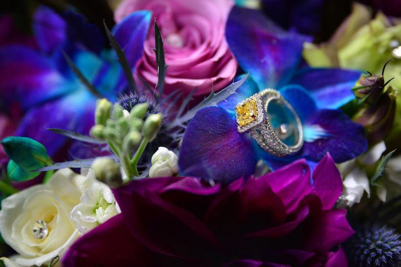 Rings on flowers