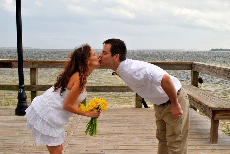 Kissing on the boardwalk