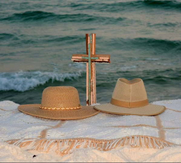 Cross and hats