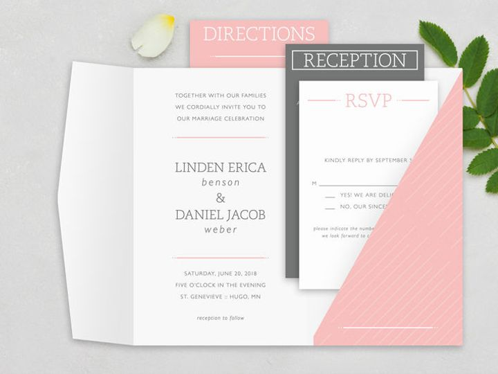 Tmx 1520610214 28764c0775dc8e06 1520610213 Ee75340c8d2f01ec 1520610208045 12 Invitations 12 Minneapolis, Minnesota wedding invitation