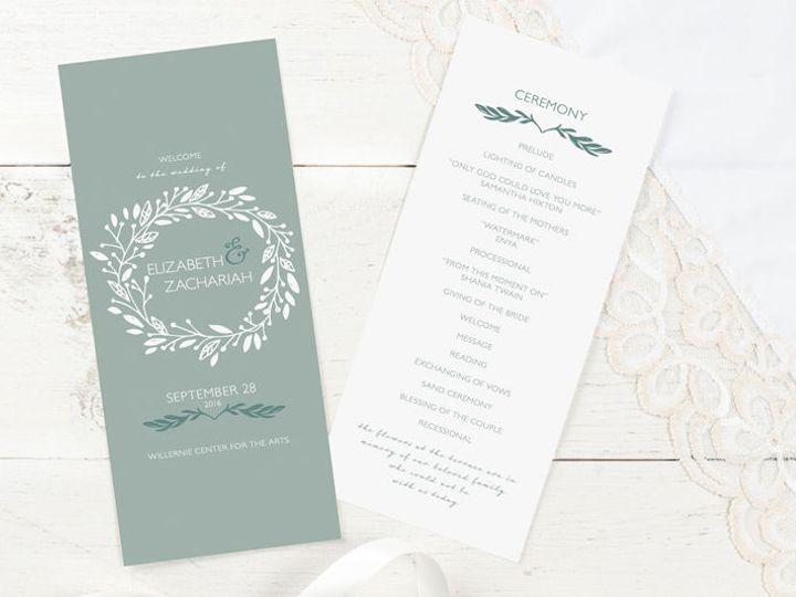 Tmx 1520610216 3e55e8563e31ddd9 1520610214 043e8cb89d0a98b6 1520610208060 16 Programs 2 Minneapolis, Minnesota wedding invitation