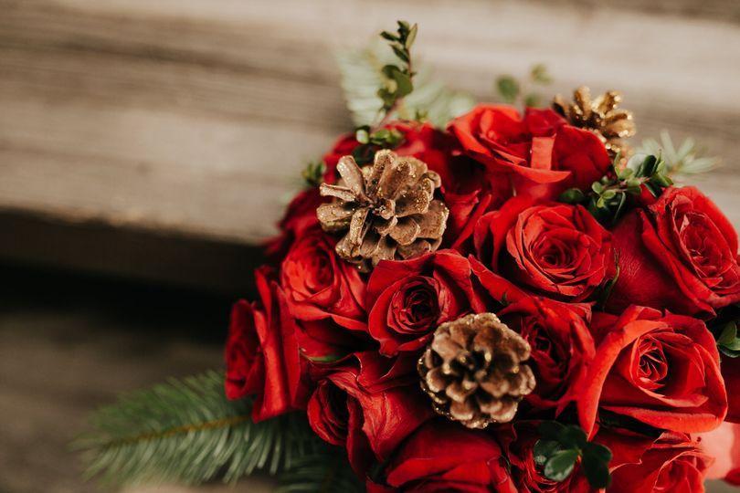 Winter rose bridal bouquet