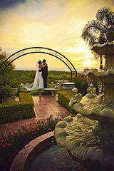 Fountain view at Villa de Amore wedding venue.