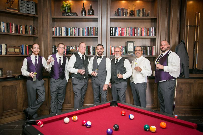 The groom together with his groomsmen