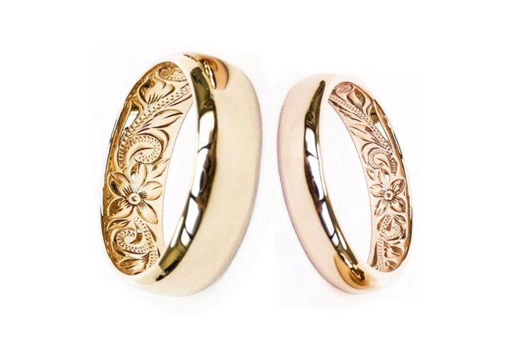 hawaiian ring in rose gold and yellow gold 51 1988109 160038514824631