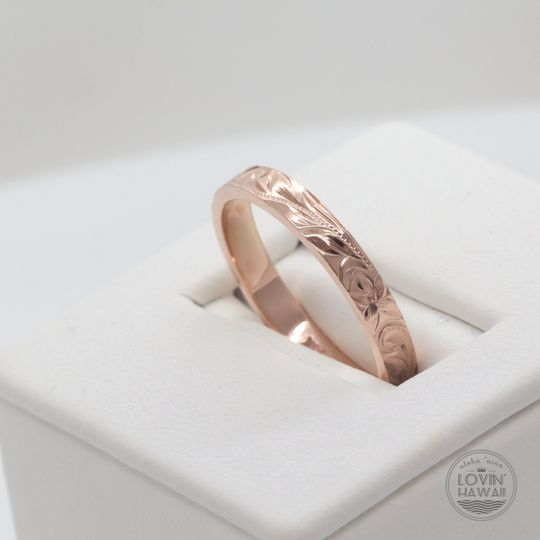 Rose gold Hawaii wedding band