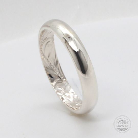 Silver Hawaiian wedding band