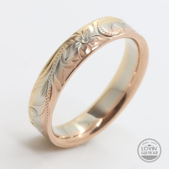 Three tone Hawaiian ring
