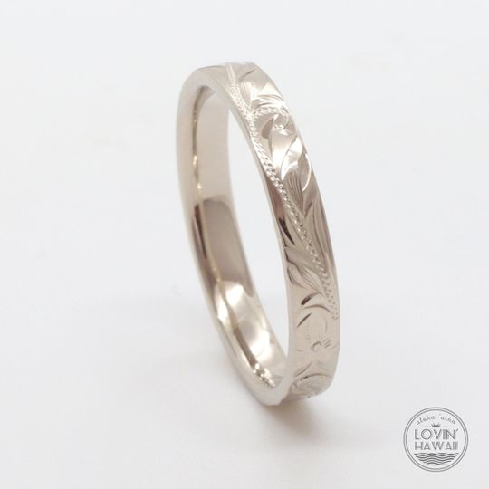 White gold Hawaii ring 3mm