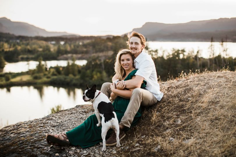 Cascade Locks Engagement