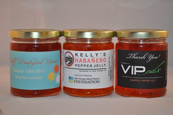 Custom Labels for Standard Jar Size, Habanero Pepper Jelly