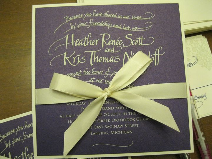 Tmx 1351814656114 IMG0222 Holt wedding invitation