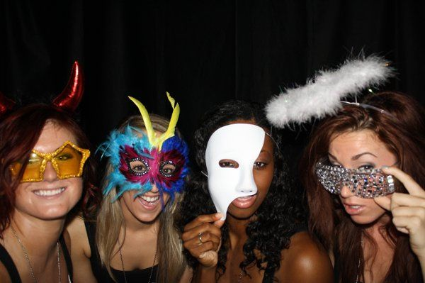 Photo Booths are great for group shots! Our booths can fit up to ten people. - Keepsake Photo Booth...