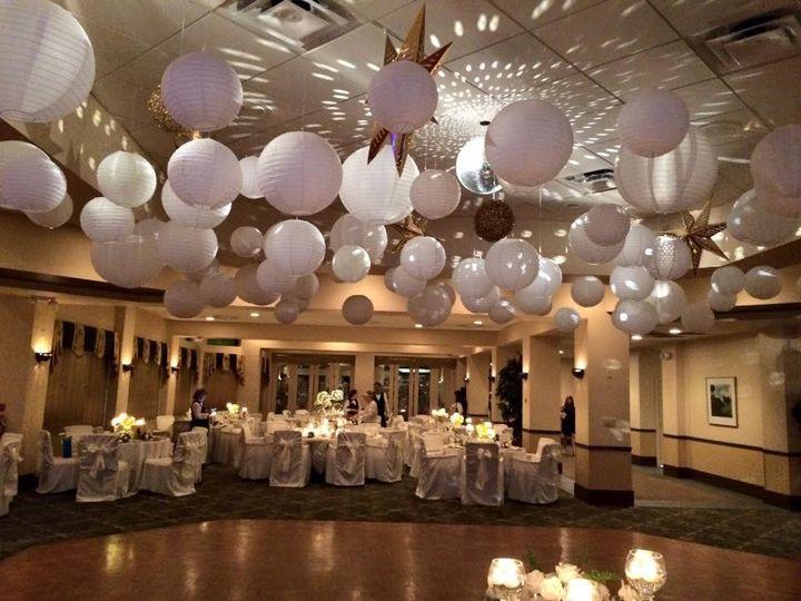 Wedding venue reception setup