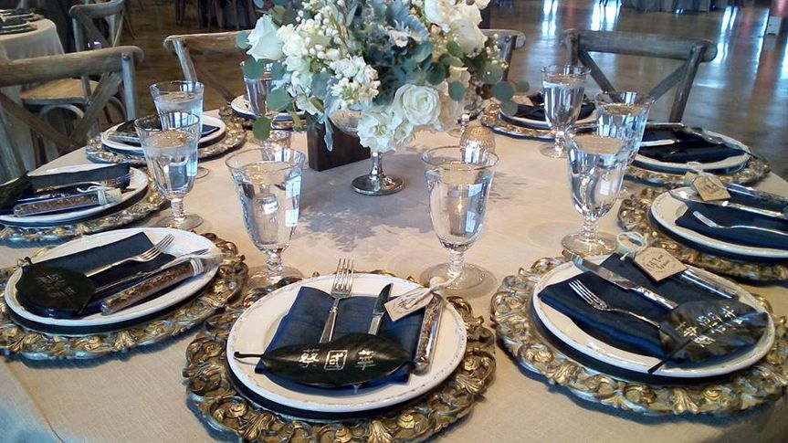 Place settings with chargers