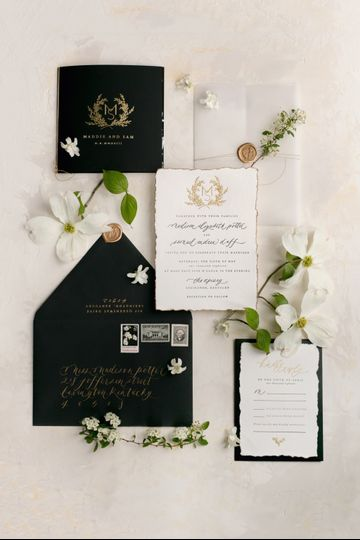 Romantic + Modern Invitation
