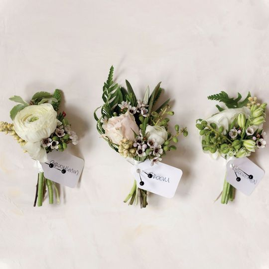 Perfect little boutonnieres