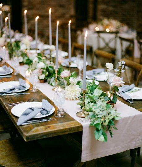 Soft + Romantic Dinner Setting