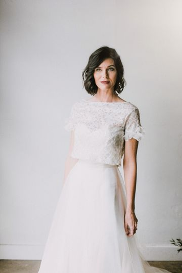 Build-a-bride dress and top