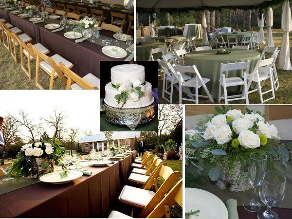 Outdoor Texas Wedding. Tent, table, chair, linen, place settings, centerpieces, full service set up